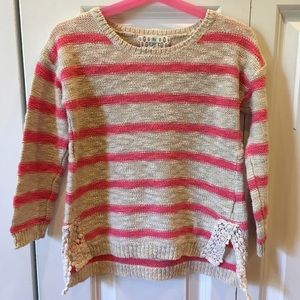 Pink Republic Striped Spring Sweater Lace 6X